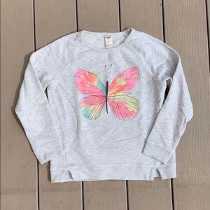 Other - 🔻4/$20🔻Osh K'osh   Butterfly Crewneck Sweatshirt